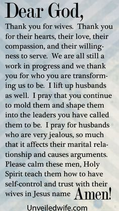 Prayer Of The Day – A Jealous Husband by @Kristen Mc Elwee Brown Wife