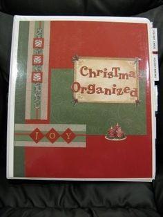 Christmas planning binder