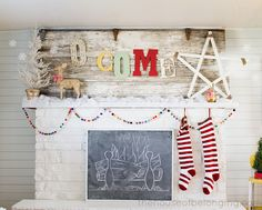 Life as a Thrifter: NOT-SO Ordinary Christmas Mantels Guess what I am doing tomorrow? Holiday Mantel Re-Do! Christmas Time Is Here, Merry Little Christmas, Noel Christmas, All Things Christmas, Winter Christmas, Christmas Ideas, Whimsical Christmas, Modern Christmas, Homemade Christmas