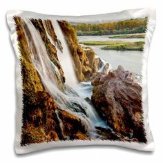 3dRose Waterfalls on small stream flowing into Snake River, Idaho, USA, Pillow Case, 16 by 16-inch