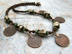 copper coin jewelry..also a great way to use the Canadian pennies which are going to be discontinued in June