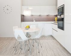 Lovely White Impeccable and Neat Design Defining a Beautiful Modern Apartment in Bratislava