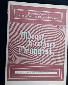 1895 Meyer Brothers Druggists Magazine St Louis Medicine Pharmacy Soda Fountain