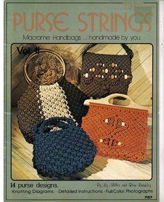 Purse Strings Macrame Handbags... handmade by you