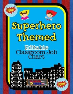 This job chart is the perfect addition to any Superhero themed classroom! The cards in this unit can be used for assigning classroom jobs. I am all about working smarter, not harder this year so this job chart is designed similarly to my behavior chart.