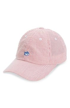 d1f7cb1ffc3 Southern Tide Embroidered Seersucker Baseball Cap Cute Baseball Hats