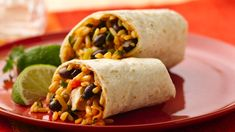 Whip up a fiesta for dinner in just 30 minutes! Jazzed-up chicken creates the tasty filling for an easy-to-wrap burrito.