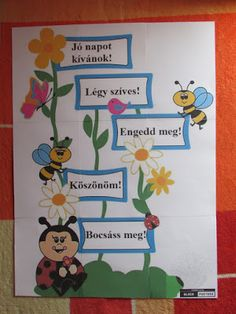Játékos tanulás és kreativitás: Méhecskés-katicás varázsszavak Camping Activities, Preschool Activities, Attendance Chart, Teacher Classroom Decorations, Crafts For Kids, Arts And Crafts, Working With Children, Teaching Resources, Card Stock