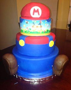Mario bros theme cake! Super Mario Birthday, Boy Birthday, Birthday Ideas, Mario Bros, Themed Cakes, Party Themes, Cool Stuff, Desserts, Boys
