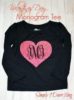 Monogram Tee for Valentines Day