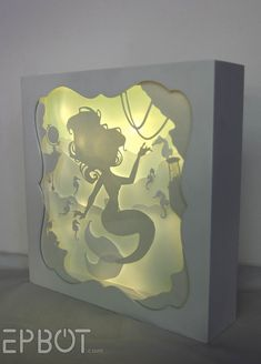 EPBOT: This Little Mermiad Papercutting Lights Up! AND IT'S SO PRETTY.