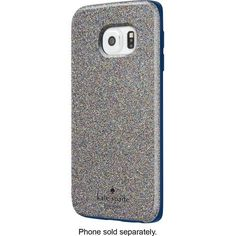 kate spade new york - Hybrid Hard Shell Case for Samsung Galaxy S 6 Edge Cell Phones - Multi Glitter/Navy - Front Zoom