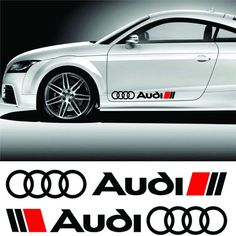 2x AUDI Side skirts Badge Rings  ticker Audi decal S line RS S3 S4 RS6 All Audi