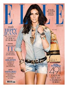 Hilary Rhoda for Elle Spain April 2011