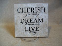 Ceramic Tile with Pet quote- Can be Personalized! | vinyl crafts ...
