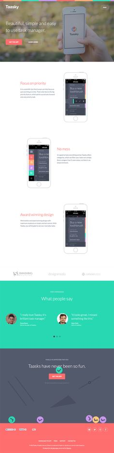 An example for flat ui design