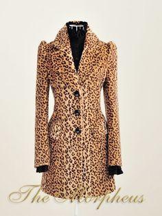 Leopard Celebrity Faux Fur Jacket Overcoat $99.99