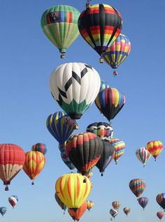 Up Up and Away.  I would love to see this and might even want to go up in one.  Pretty cool.
