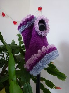 Hand kniited dog sweater with loops by PollyandMolly on Etsy