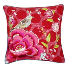 Discover the Pip Studio Birds in Paradise Cushion - Red - 50x50cm at Amara