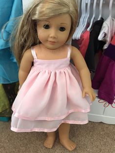 Doll dress out of fabric scraps