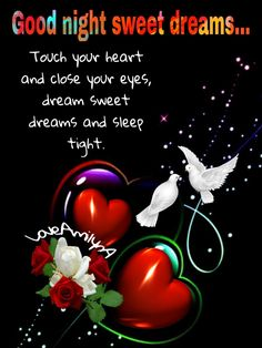 Good Night Baby, Good Night Image, Sleep Tight, Close Your Eyes, Touching You, Sweet Dreams, Blessed, Blessings, Quotes