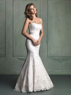 Allure Bridals: Style: 9117 - mermaid lace, front