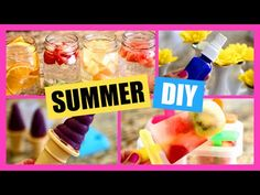 ▶ Summer DIYs! DIY Ice Cream, Popsicle, Perfume Spray, Yogurt Melts, Infused Water! - YouTube