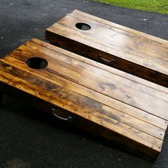 Regulation Size Rustic Planked Bean Bag By Pkmadison