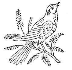 Free bird embroidery pattern.