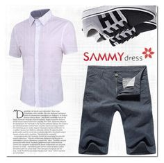"""""""White Shirt"""" by mini-kitty ❤ liked on Polyvore featuring Balmain, men's fashion and menswear"""