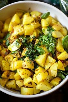 Indian potatoes and spinach