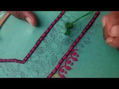 Hand Embroidery: Makrani design/Masculine stitch Part-2 - YouTube