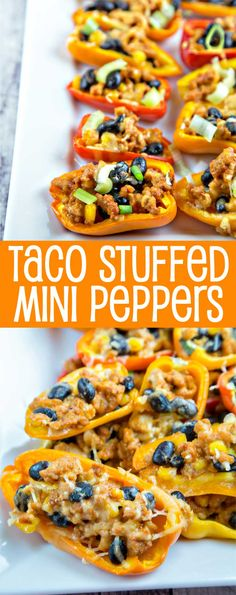 Taco Stuffed Mini Peppers: the perfect quick, easy, gluten-free, bite-sized party snack. {Bunsen Burner Bakery}
