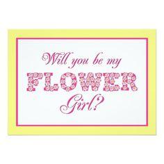 Will You Be My Flower Girl? Custom Wedding Card