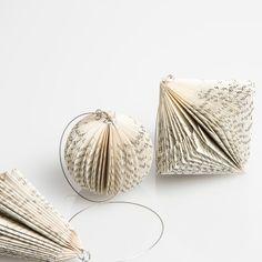 Folded Paper Ornament Set//