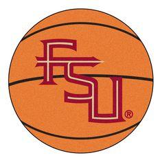 FANMATS Ncaa Florida State University FSU Logo Orange 2 ft. x 2 ft. Round Area Rug