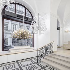 The Preciosa showroom display is filled with design ideas on decorating with crystal and glass. Prague Things To Do, Showroom Design, Crystal Decor, Czech Glass, Stairs, Chandelier, Design Ideas, Display, Decorating