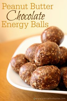 These Peanut Butter Chocolate Energy Balls are a healthy & delicious way to keep up your energy!  Did I mention they're addicting too?