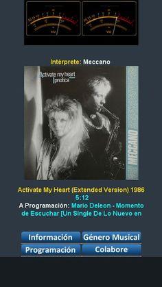 Meccano - Activate My Heart (Extended Version) 1986 programando solo éxitos y volando nuestra imaginación 30 años atrás y recordar esos grandes momentos euro80s.net