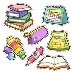 Kawaii Drawings, Cute Drawings, Journal Stickers, Planner Stickers, Printable Stickers, Cute Stickers, School Tool, School Clipart, School Sets