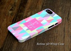 Color Geometric Monogram case for iPhone 5S/5C/5/4S/4