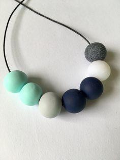 Handmade Tropicool Polymer Clay Bead Necklace by LeedysBeads