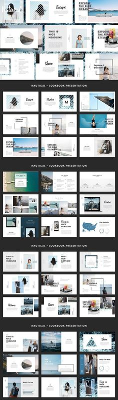 Nautical - Keynote Template. Presentation Templates. $12.00