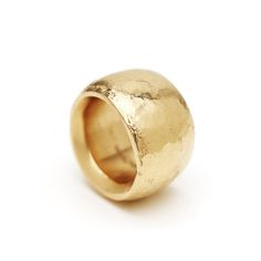 A fat, big, bold and beautiful ring. Handmade by Danish Goldsmith Tina Engell, this 18 carat gold ring is cast using the cuttlefish method. This is...