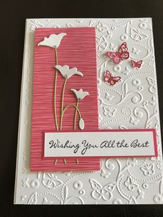 Wedding Cards Handmade, Handmade Birthday Cards, Greeting Cards Handmade, Butterfly Cards, Flower Cards, Memory Box Cards, Poppy Cards, Embossed Cards, Stamping Up Cards