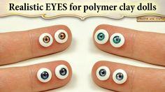 Сегодня покажу, как сделать реалистичные глазки для кукол из полимерной глины и УФ геля. Повторного запекания такие глазки не боятся, а дизайн, размер и цвет...
