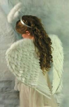 Angel Ensemble An ethereal halo and wings are handcrafted from real feathers. Angel Quotes, I Believe In Angels, Ange Demon, Angels In Heaven, Heavenly Angels, Angel Pictures, Angels Among Us, Romantic Outfit, Guardian Angels