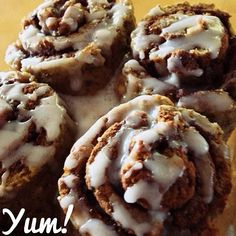gluten free, paleo, dairy free, low cal, protein packed, low sugar, and low carb cinnamon rolls! @ stephschubert