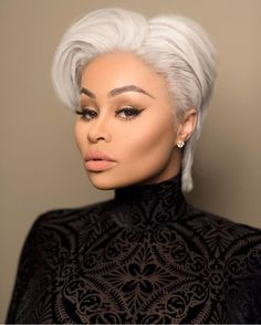 The Glam Life: Blac Chyna stuns in short blonde hairdo, see photo. Black Chyna Memes, Lashed By Blac Chyna, Jheri Curl, Natural Hair Styles, Short Hair Styles, Amber Rose, Short Blonde, Trends, Black Women